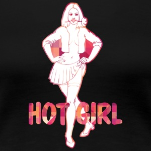 PIN UP GIRL het tjej - Premium-T-shirt dam