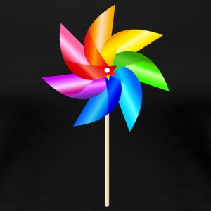 colorful windmill children's toys rainbow Summer - Women's Premium T-Shirt
