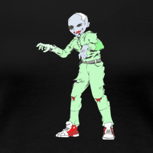 Collection Zombie: Zombie Man - T-shirt Premium Femme