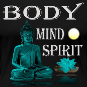 Buddha Body Mind Spirit - Frauen Premium T-Shirt