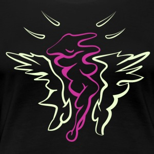 Femix Pink-Yellow - Women's Premium T-Shirt