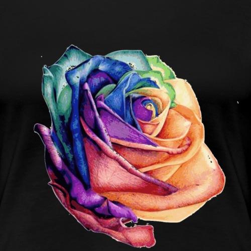 rose couleurs - T-shirt Premium Femme