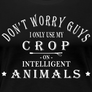 Intelligent Animals: Horses Design Gift - Women's Premium T-Shirt