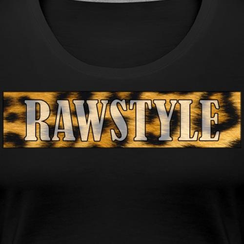 Leopard Raw - white lettering - Vrouwen Premium T-shirt