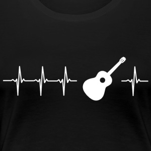 I love acoustic guitar (heartbeat) - Women's Premium T-Shirt