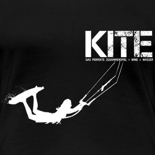 KITE FRAU GESCHENK - Frauen Premium T-Shirt