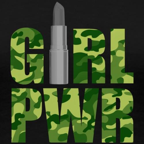 Girl power camouflage green - Frauen Premium T-Shirt