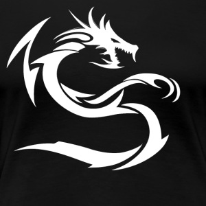 Snow White Dragon - Women's Premium T-Shirt