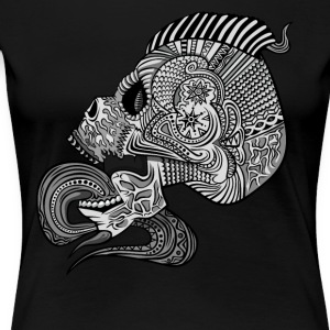 Fancy Skull Pattern Inside Punk - Dame premium T-shirt