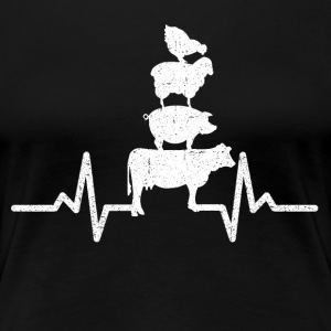 My heart beats for animals! - Women's Premium T-Shirt