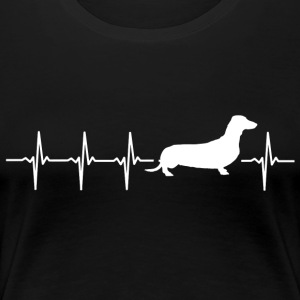 I love dachshunds (dachshund heartbeat) - Women's Premium T-Shirt
