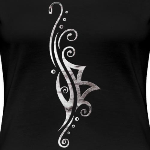 Berkana Rune im Tribal Tattoo Style - Frauen Premium T-Shirt