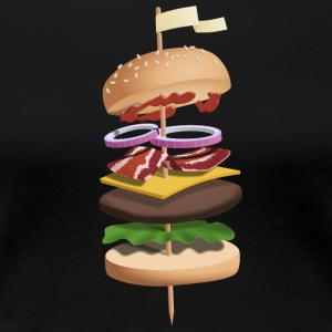 Hovering burgers on skewers - Women's Premium T-Shirt