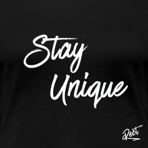(MEN) (SLIM FIT) STAY_UNIQUE - Women's Premium T-Shirt