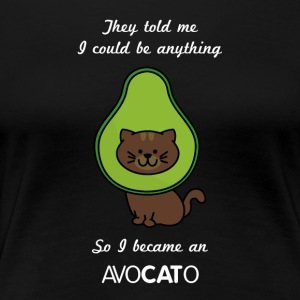 Avocado Funny Cat - Dame premium T-shirt