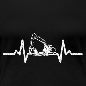 My heart beats for excavators! - Women's Premium T-Shirt