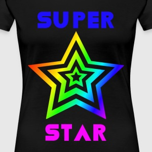 Rainbow Super Star - Premium T-skjorte for kvinner