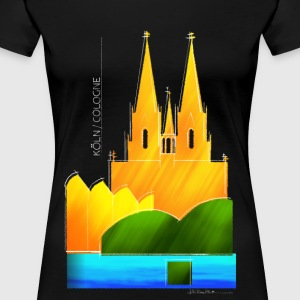 Cologne souvenir motif for dark fabrics - Women's Premium T-Shirt