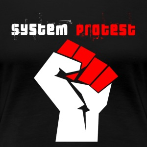 systeem protest - Vrouwen Premium T-shirt