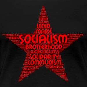 socialism word cloud - Women's Premium T-Shirt