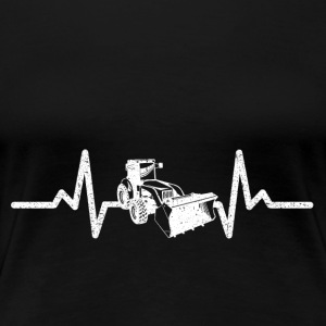 My heart beats driving for excavators! - Women's Premium T-Shirt