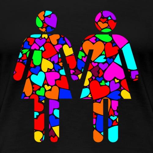 Mädchen liebt Mädchen - Frauen Premium T-Shirt