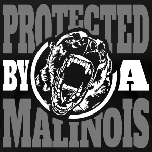 Protected by a MALINOIS - Belgian Malinois - Women's Premium T-Shirt