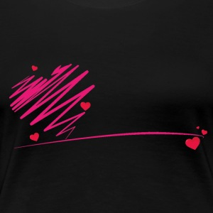 heart scribble - Women's Premium T-Shirt