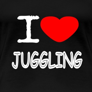I LOVE JUGGLING - Frauen Premium T-Shirt