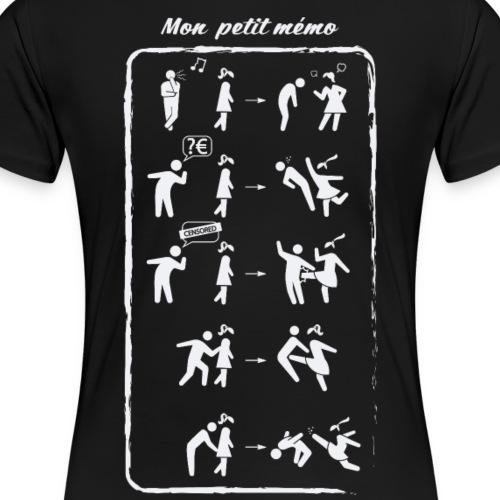 Mon petit mémo Anti-Harcèlement de rue - T-shirt Premium Femme