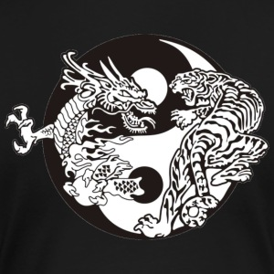 Ying Yang Dragon Tiger - Frauen Premium T-Shirt
