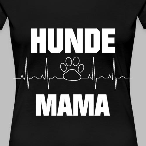 Hundemama EKG Herzlinie Pfote - Frauen Premium T-Shirt