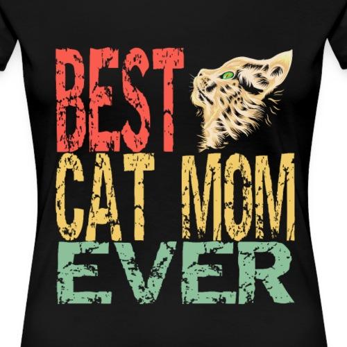 Best cat mom ever   Bester Katzen Mami überhaupt - Frauen Premium T-Shirt