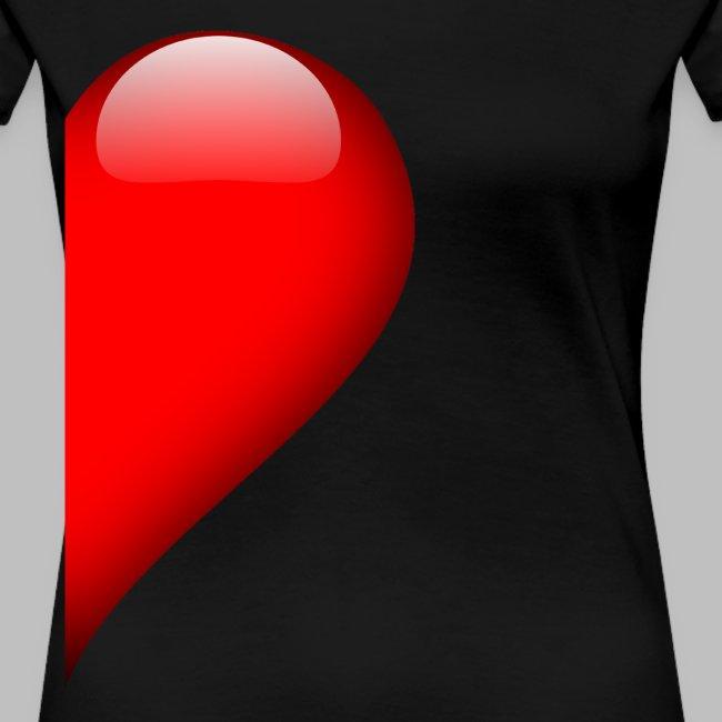 Herz rechte Hälfte Vallentinstag Liebe Partner