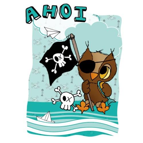 Pirateneule AHOI - Frauen Premium T-Shirt
