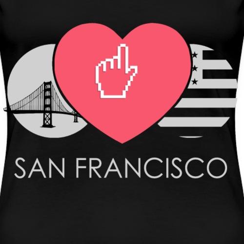Ich Liebe San Francisco USA Amerika - Frauen Premium T-Shirt