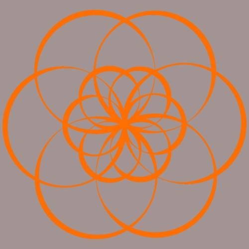 Fleur de vie orange - Chakra sacré - T-shirt Premium Femme