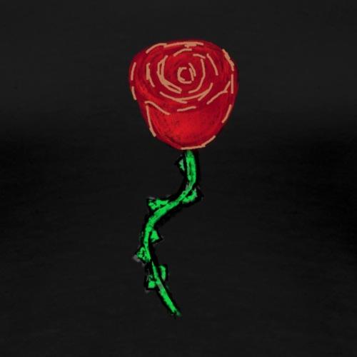 Rose rouge - T-shirt Premium Femme