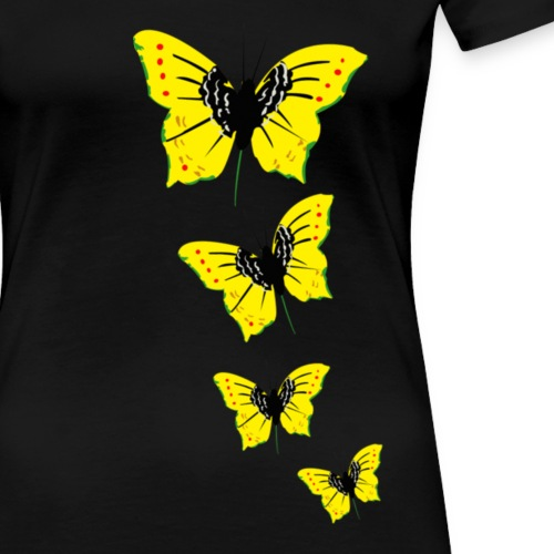 papillon transparent vjr, rastafari long - T-shirt Premium Femme