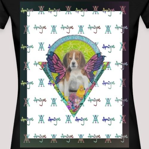 DogButterflay AmiYoe - Camiseta premium mujer