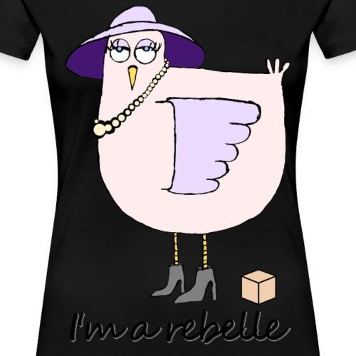 poule rebelle noir - T-shirt Premium Femme