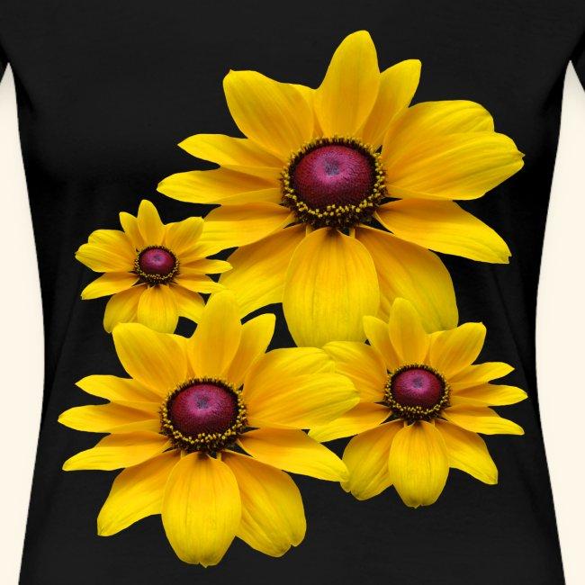 gelb blühende Sonnenhut Blumen, Blüten, floral,