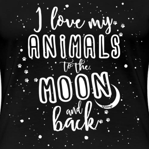 Animals Moon - Naisten premium t-paita