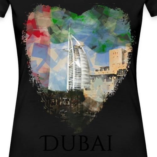 My heART beats for Dubai - Frauen Premium T-Shirt