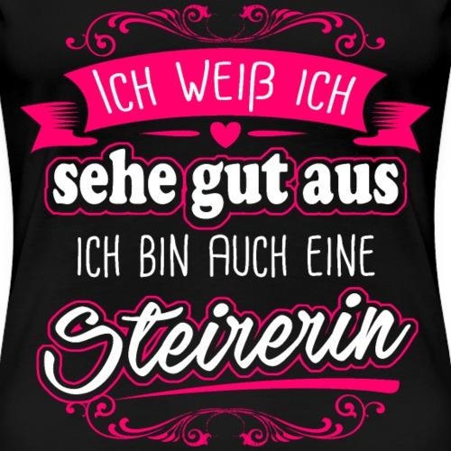 Hübsche Steirerin Geschenk Lustig Geburtstag Cool - Frauen Premium T-Shirt