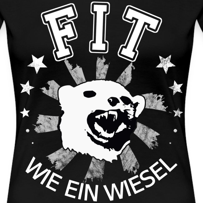 Fit Wie Ein Wiesel Lustige Fitness Sprüche Body T Shirt Premium Femme