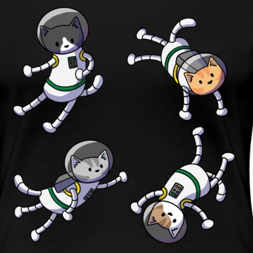 Cats in SPACE! - Women's Premium T-Shirt