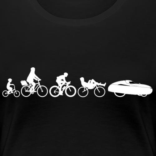 Bicycle evolution white - Naisten premium t-paita