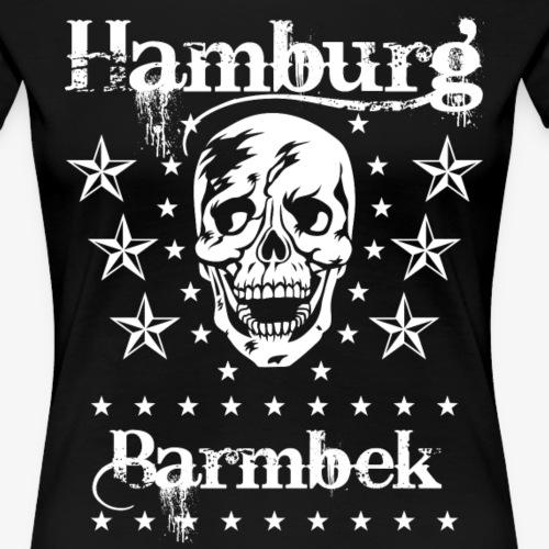51Hamburg Stadtteil Barmbek Skull Totenkopf - Frauen Premium T-Shirt