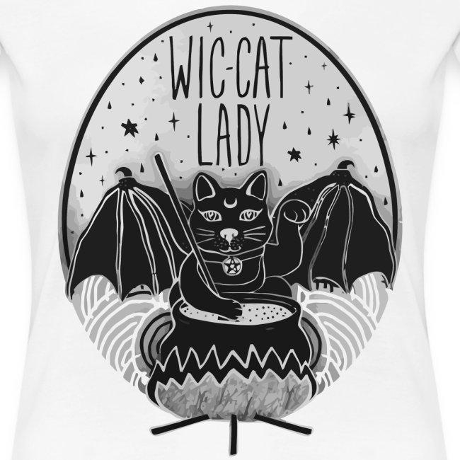 Wic-cat lady halloween shirt
